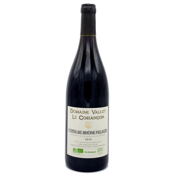 Côtes du Rhone Village-Domaine Vallot-Le Coriançon-rouge-Rouge-2017